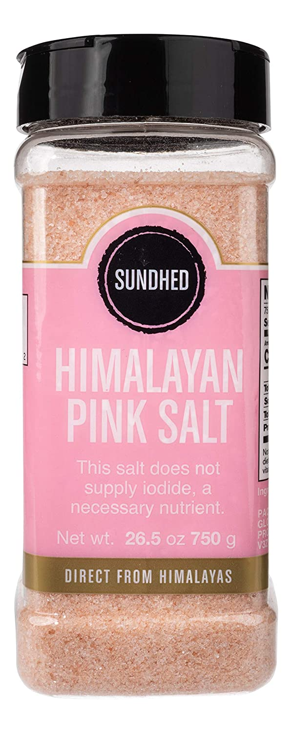 Sundhed Pink Himalayan Gourmet Salt (Fine) in Refill | 750 Grams (26.45 oz) | Natural Rock Salt for Seasoning | Keto Friendly and Kosher Certified