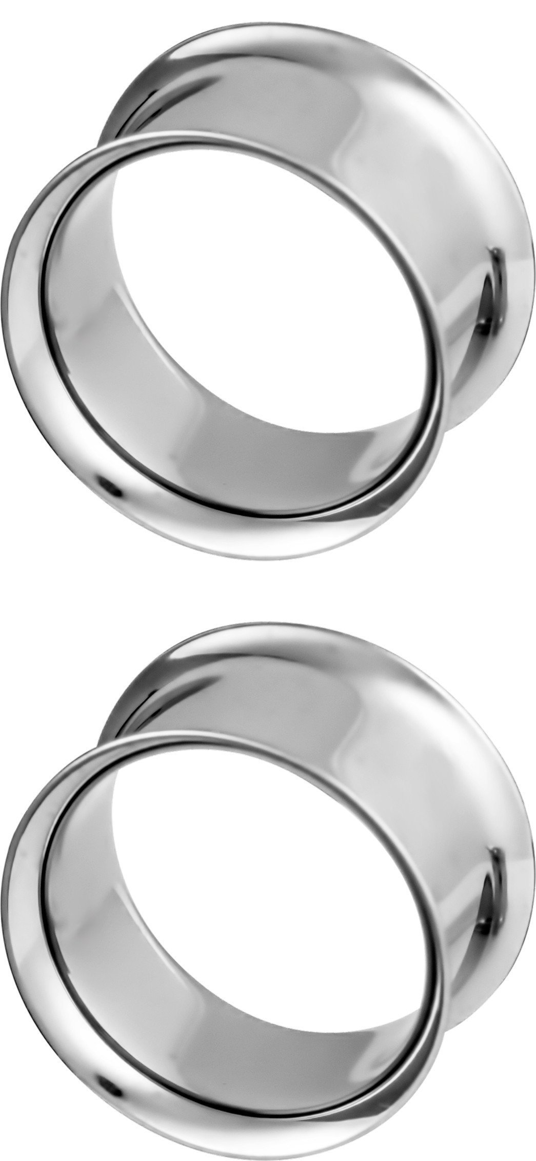 Set of 11/16 Inch Surgical Steel Ear Gauges, 18mm Double Flared Saddle Tunnel Plug Earrings