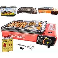 Gasgrill rot klein Gas Barbecue 1-flammig ✔ eckig ✔ tragbar ✔ Grillen mit Gas
