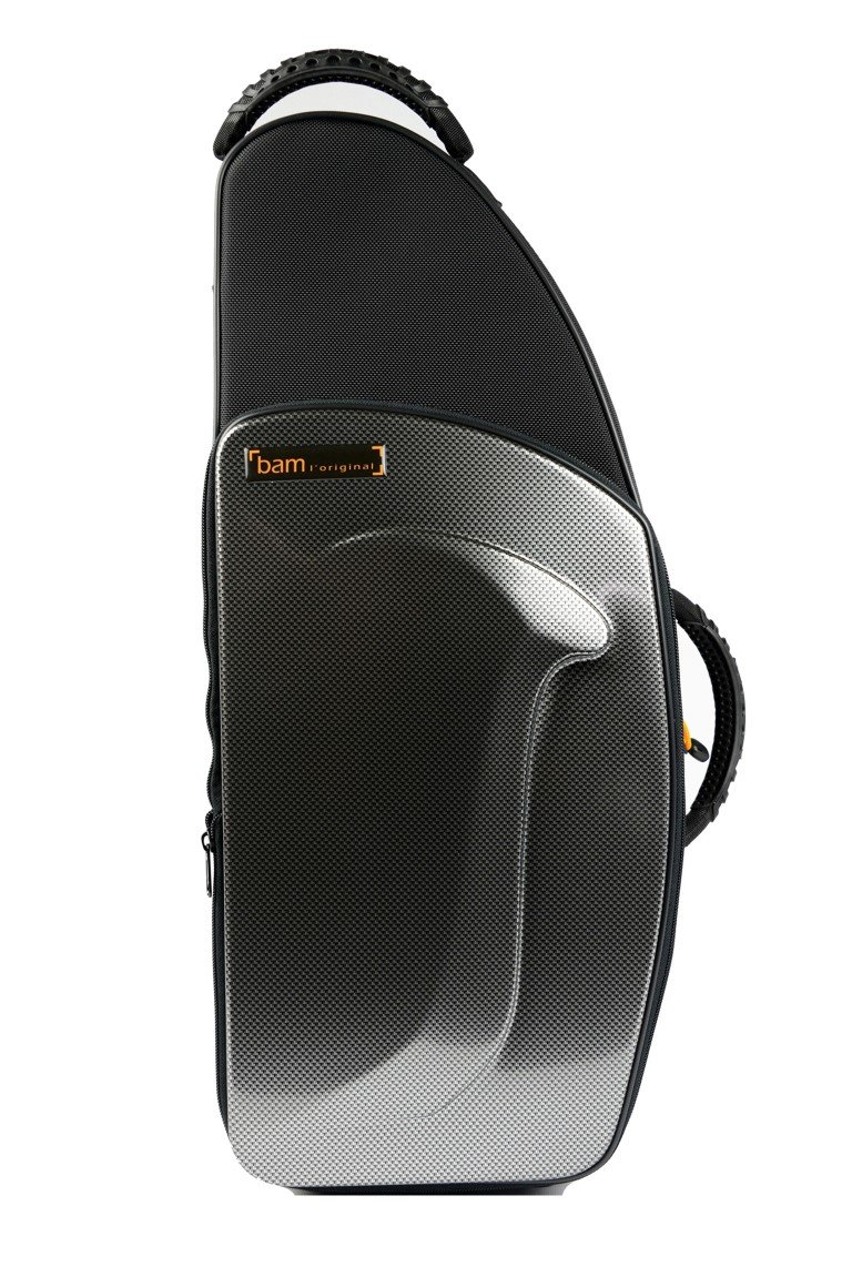 Bam New Trekking Alto Sax Case - Silver Carbon - TREK3021S