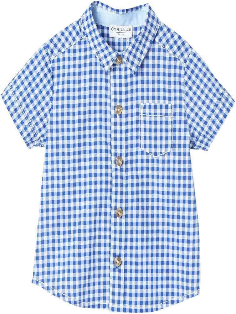 Cyrillus – Camisa Bebé Vichy manga corta vichy – azul ...