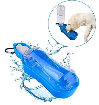 Botella de agua portátil para mascotas, senderismo, camping, dispensador de agua para viajes, alimentador plegable para mascotas para exteriores, ...