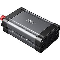 AUKEY Power Inverter 300 W 12 V vers 230 V, avec double prise secteur et 2,4 A * 2 ports USB pour ordinateur portable, appareil photo numérique, tablette, smartphone, ventilateur et autres de la maison Appliance