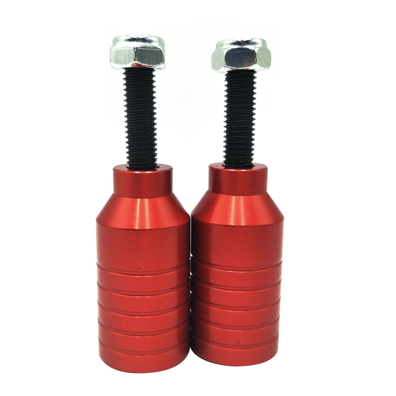 Pinzas de aluminio CNC para patinetes con accesorios., rojo