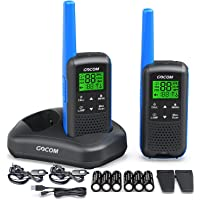 GOCOM G600 FRS Walkie Talkies for Adults Long Range Two Way Radio Rechargeable, VOX Scan, NOAA & Weather Alerts, LED…