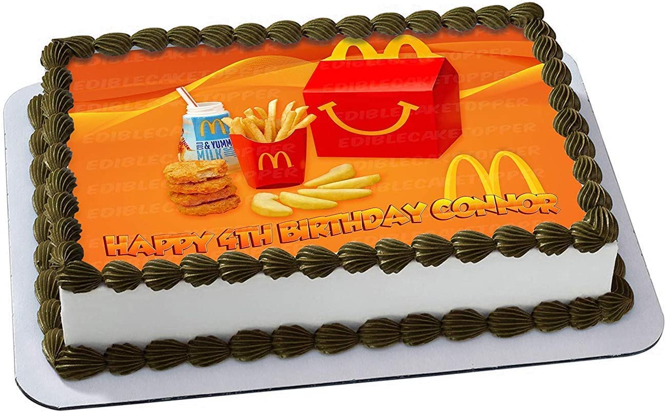 Remarkable Amazon Com Mcdonalds Happy Meal Edible Cake Image Topper Birthday Cards Printable Nowaargucafe Filternl