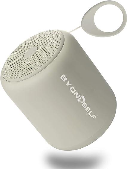 Byondself Tragbar Bluetooth Lautsprecher Wasserdichter Lautsprecher Wireless Bluetooth Speaker Musikwiedergabe Bis Zu 12 Stunden Geeignet Für Aktivitäten Im Freien Duschen Partys Silberweiß Audio Hifi