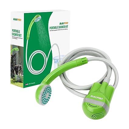 Amazon.com: Cabezal de ducha portátil Risepro, con batería ...
