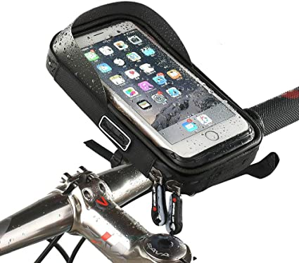 Polyester Mountain Bike Waterproof Bag Touchscreen Cell Phone Stand Pannier US