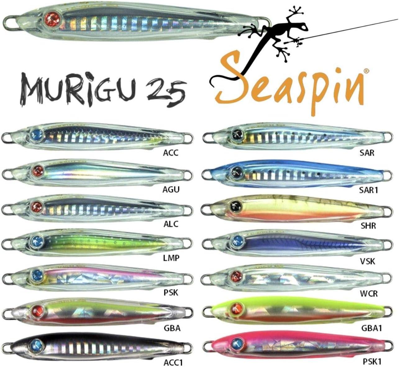 ARTIFICIALE SEASPIN MURIGU 25S 75mm 25g AGU JIG PER MANGIANZE TONNI PALAMITE