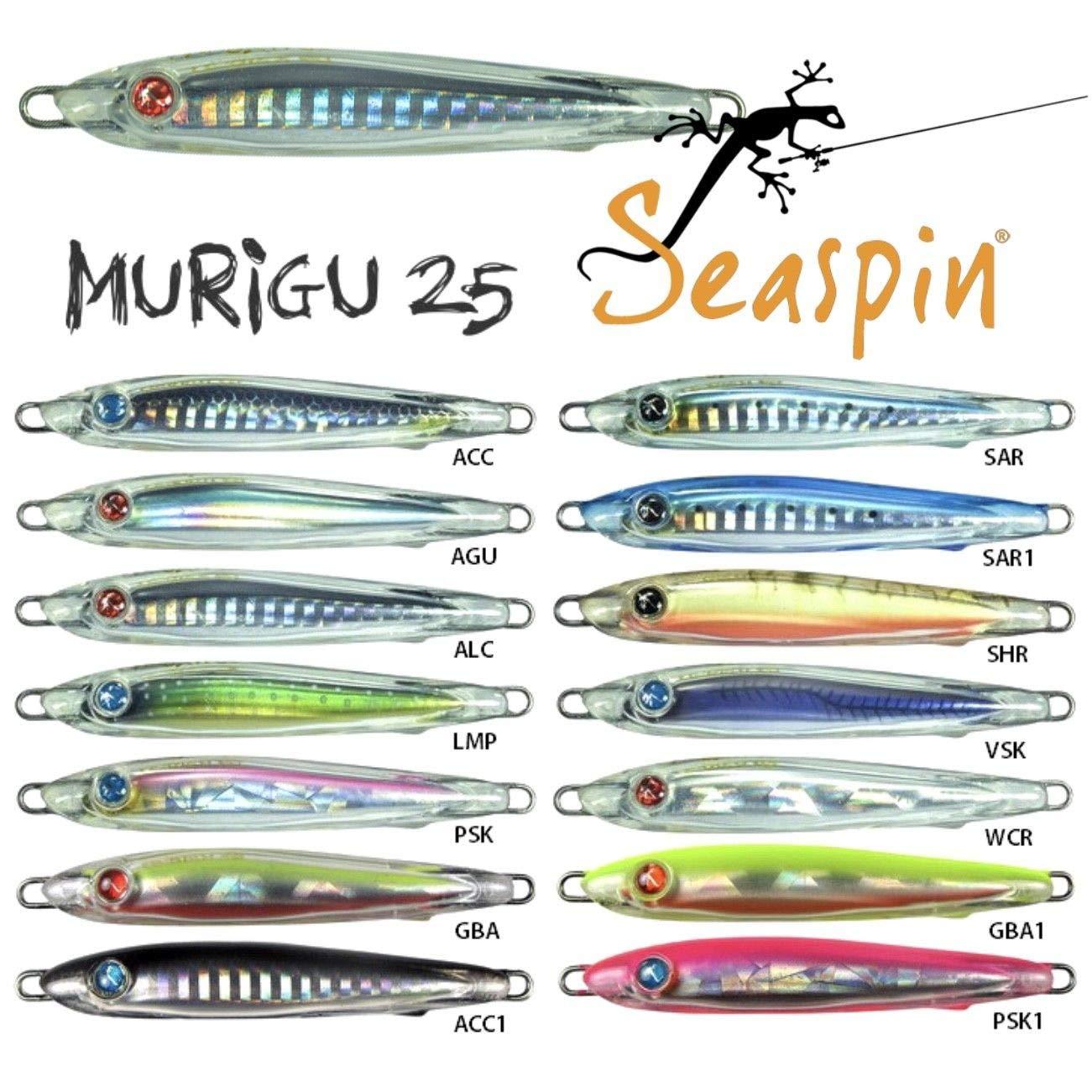 Seaspin Murigu 25S - Señuelo Jig (75 mm, 25 g) para la pesca del ...