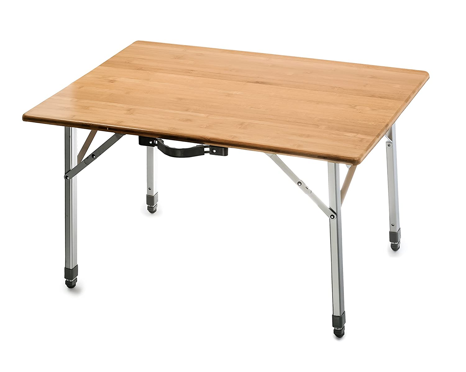 Amazon Camco Bamboo Folding Table with Aluminum Legs
