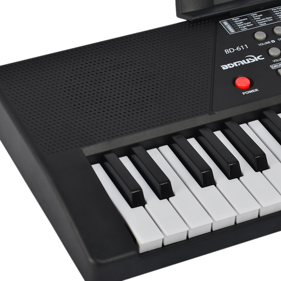 Foxom Piano para niños, 61 Teclas Electrónico Teclados Piano con Micrófono Partitura de Pie Piano Juguete Musical Regalo para Niños Bebés Principiantes: ...