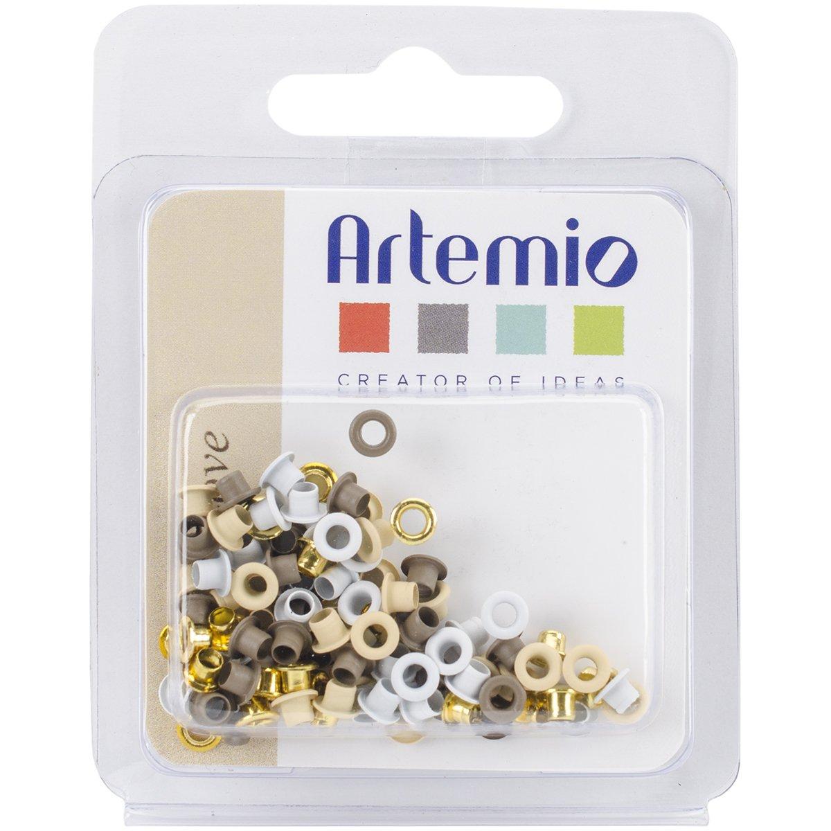 20 Mini occhielli 100//Pkg-amore Multi Artemio