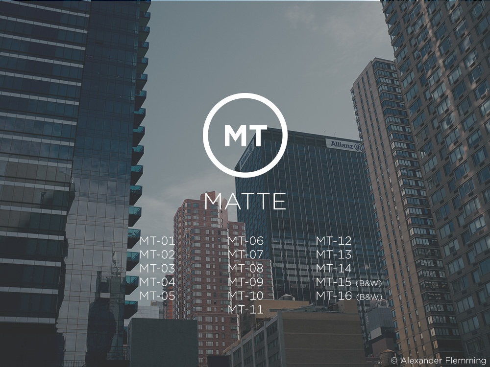 Capture One Matte Style Pack [Download]