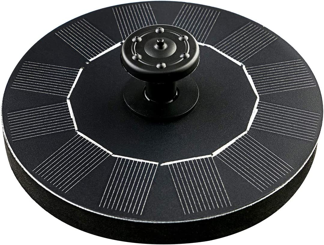 Solar Fountain For Bird Bath, Mini Water Fountains outdoor Pump Floating Solar Panel Kit for Garden Decoration, Small Pond, Patio, Pool, Back yard and Fish Tank