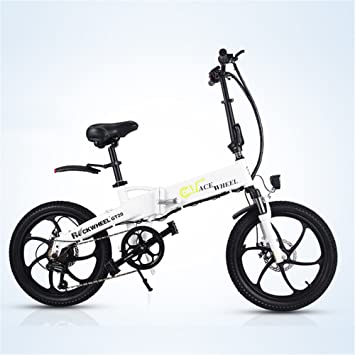 ROCKWHEEL GT20 48V * 350W Bicicleta Plegable de 20 Pulgadas Bicicleta de montaña eléctrica 5 Pas Ciclismo Dentro de la batería de Li-on con ...