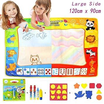 687b4c67e5 Jenilily Magic Doodle Malmatte, 120x90CM Wasser Malmatte Kids Baby Toddler  Wasser Zeichnen Matte Toy Doodle