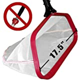 """ProTuff 17.5"""" Pool Silt Net - Unlimited Free Replacement Guarantee - Heavy Duty Fine Mesh Silt & Sand Skimmer Cleans 3X…"""