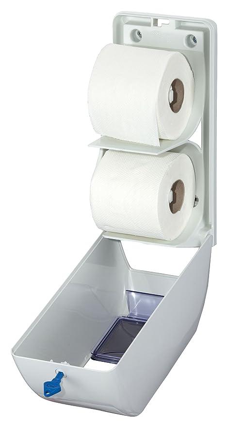Air dispensador de papel de WC, Wolf, ABS, de plástico, color blanco