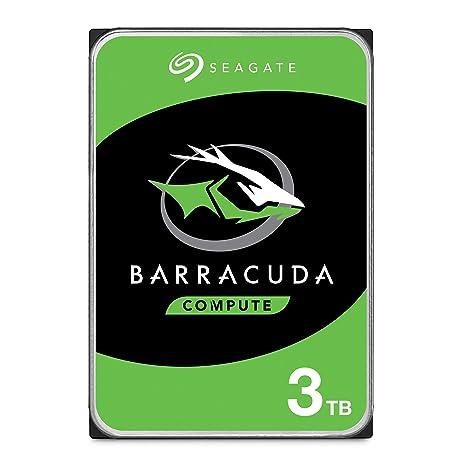 Seagate BarraCuda 3TB Internal Hard Drive HDD Ã 3 5 Inch SATA 6 Gb/s 7200  RPM 64MB Cache for Computer Desktop PC (ST3000DM008)