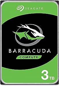 Seagate BarraCuda 3TB Internal Hard Drive HDD – 3.5 Inch SATA 6 Gb/s 7200 RPM 64MB Cache for Computer Desktop PC (ST3000DM008)