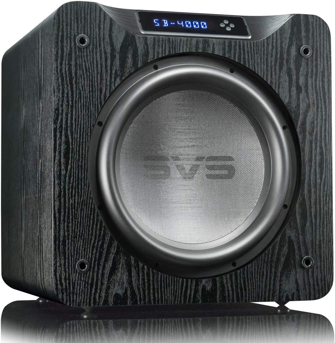 SVS SB-4000 Subwoofer (Black Ash) – 13.5-inch Driver, 1,200-Watts RMS, Sealed Cabinet, App Control