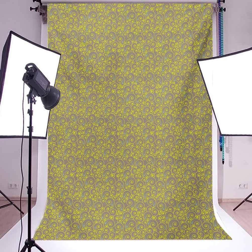 6x8 FT Backdrop Photographers,Spiral Swirls Motifs Pattern Abstract Art Design Geometric Illustration Background for Kid Baby Boy Girl Artistic Portrait Photo Shoot Studio Props Video Drape Vinyl