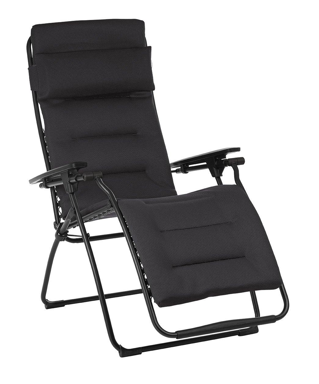 1. Lafuma LFM3120-6135 Futura Air Comfort Folding Recliner, Acier