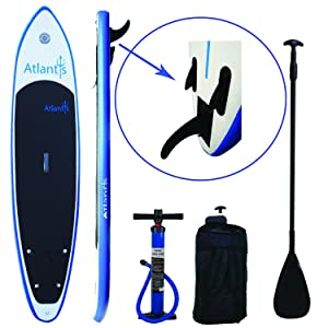 "Atlantis Paddle Boards SUP Inflatable Paddle Board 10'6"" & 6"" Thick"