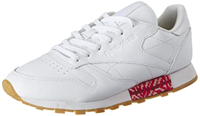 bccfd017c63c7 Reebok Classics Women's Cl Lthr Old Meets White and Gum Leather Sneakers -  5 UK/