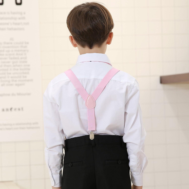 Set per bambini con bretelle papillon e cravatta regolabile