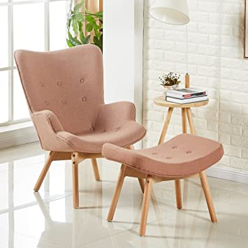 Fauteuil scandinave marron Stockholm Amazon Cuisine & Maison