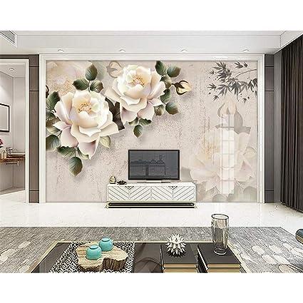 Amazoncom Gmyanbz Custom Wallpaper Classical Elegant White Rose