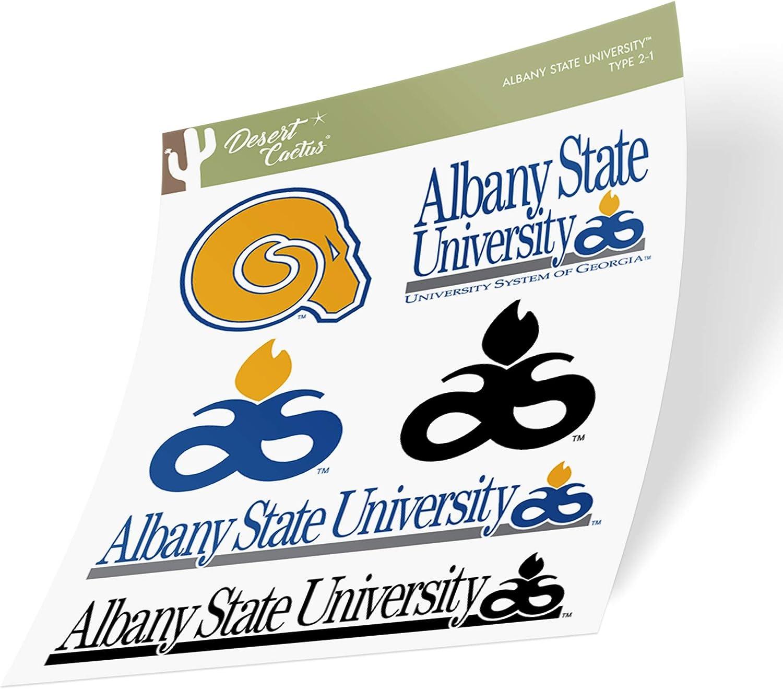 Albany State University ASU Golden Rams NCAA Sticker Vinyl Decal Laptop Water Bottle Car Scrapbook (Type 2 Sheet)