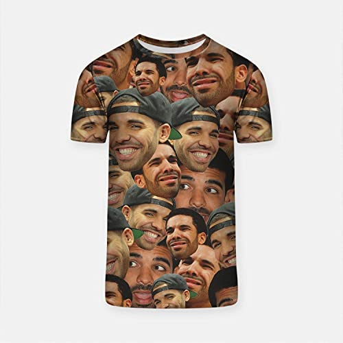fc9363072 Amazon.com: WolfCases Funny Drake T-shirt Smiling Face Cool Men's ...