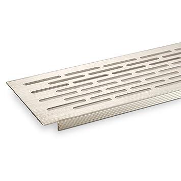 SO-TECH ® aspecto de rejilla de ventilación de acero inoxidable 500 x 100 mm, placa