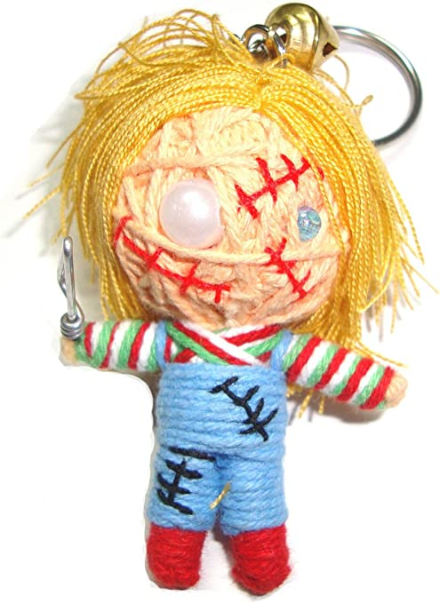HORROR MOVIE STRING VOODOO KEYRINGS CHUCKY PARTY BAG GIFT