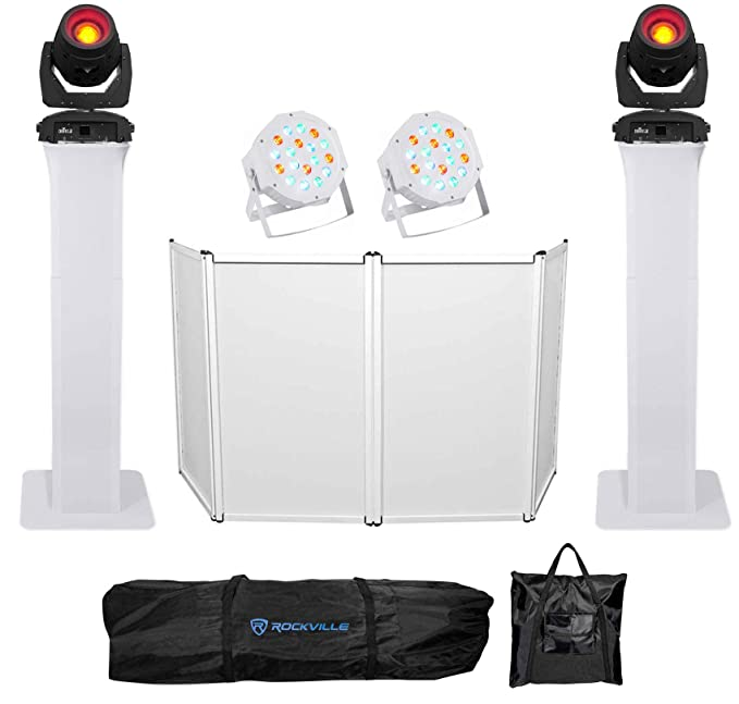 Amazon.com: (2) Chauvet DJ Intimidator Beam 355 IRC Moving Heads+Totem Stands+Facade+Pars: Musical Instruments