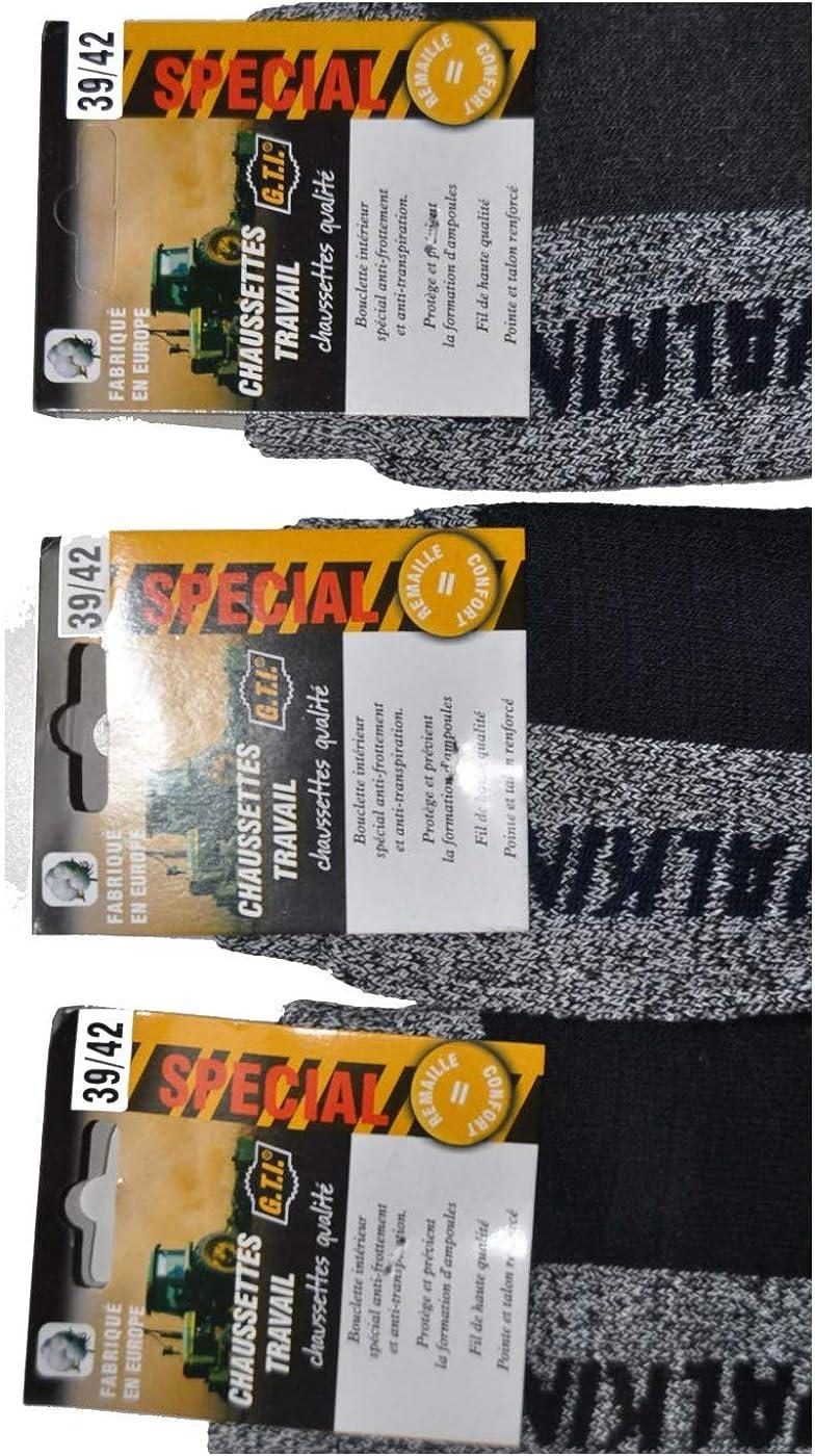 pèche anti Lot 3 paires chaussettes de travail chasse randonnée