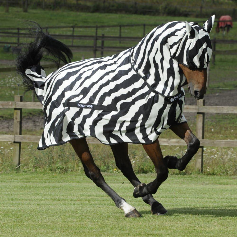 Bucas Buzz-Off Zebra Full Neck Fly Rug