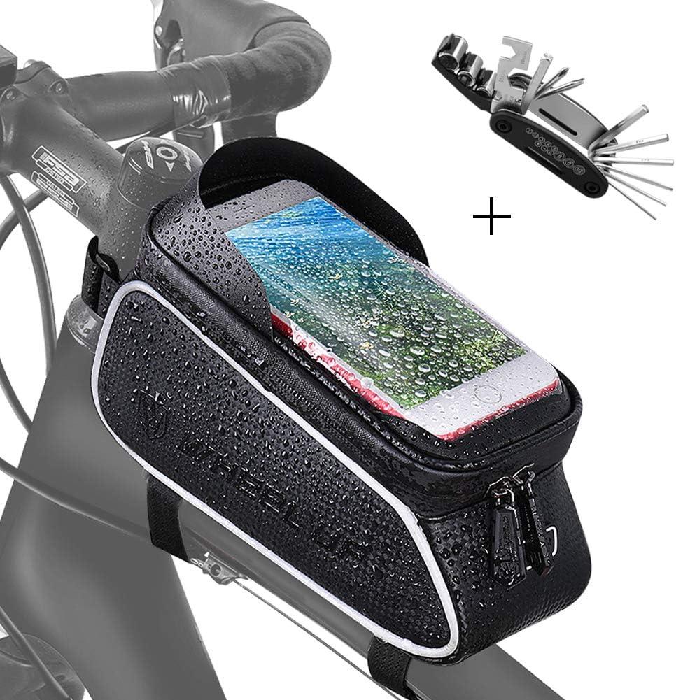 Bolsa Bicicleta Cuadro Impermeable con Herramientas Bici ...