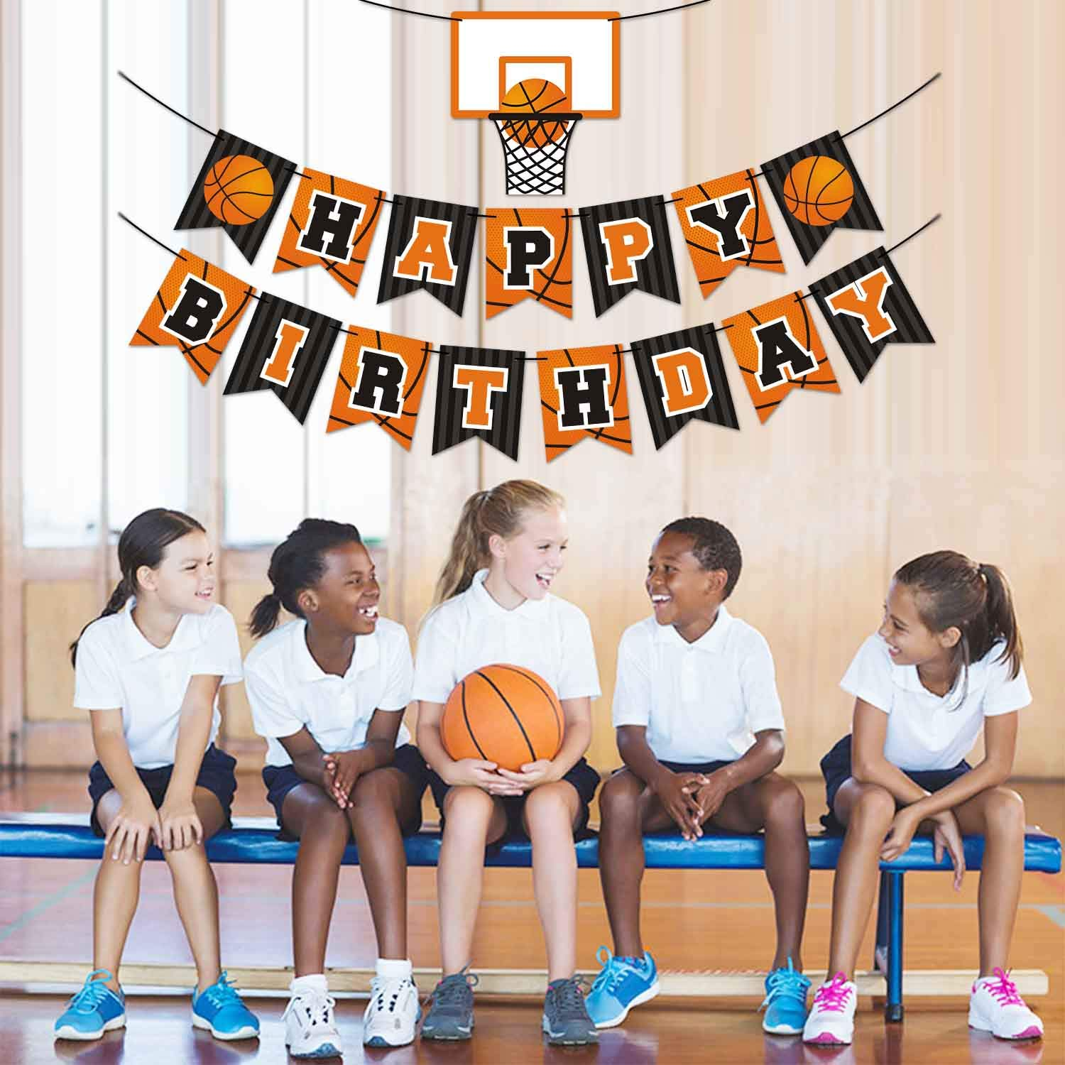 Levfla 21 Pack Basketball Dessert Table Toppers Slam Dunk Party Centerpiece Sticks Sports Kids Teenagers Birthday Ideas Hoop Photo Props Decorations