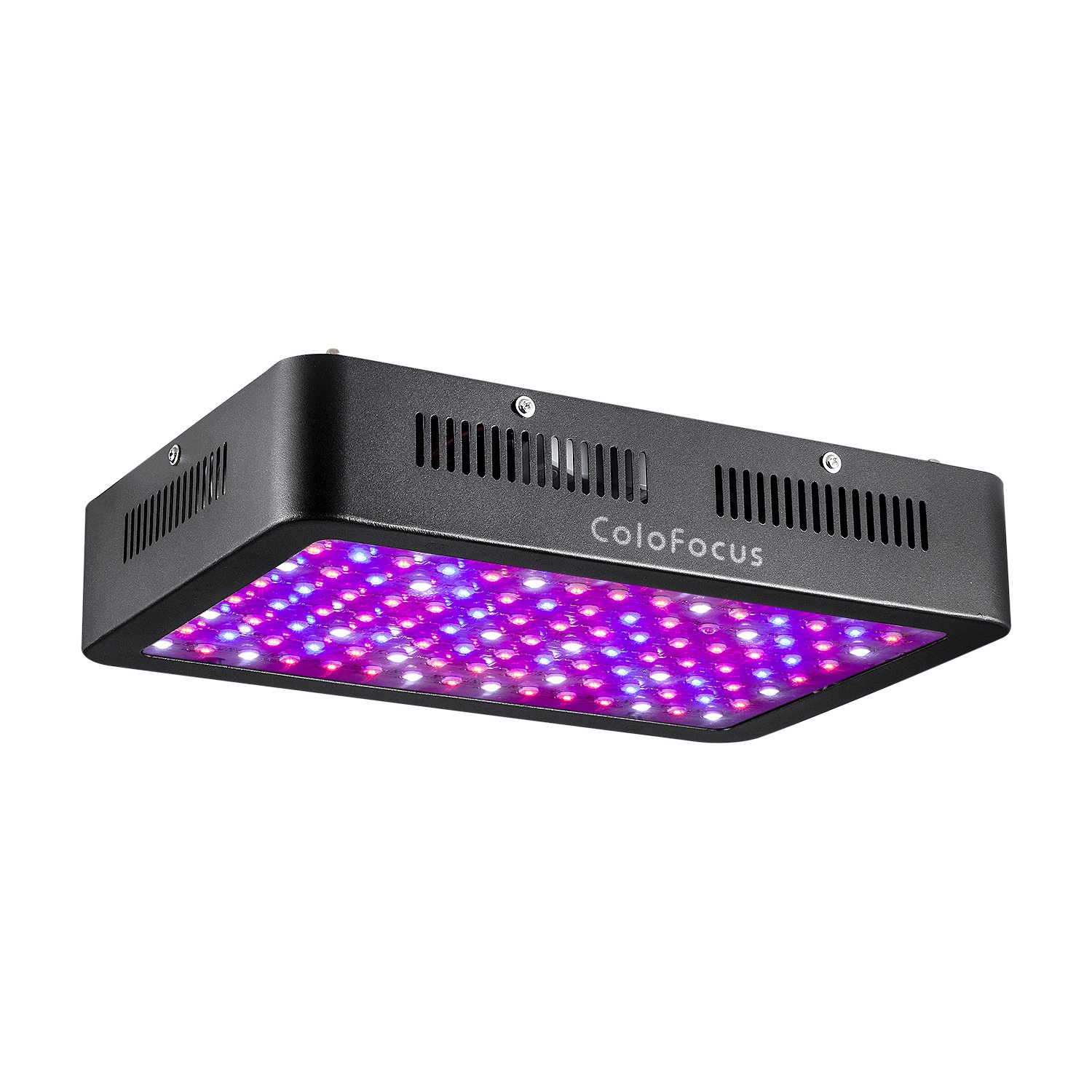 ColoFocus 1200W LED Plant Grow Lights Indoor,Full Spectrum IR UV Veg Flower Indoor Plant Panel (10W Leds 120Pcs) (Black)