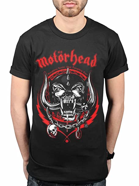 Rock - Camiseta - para hombre negro negro Small