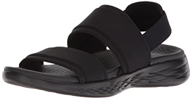 skechers sandals black
