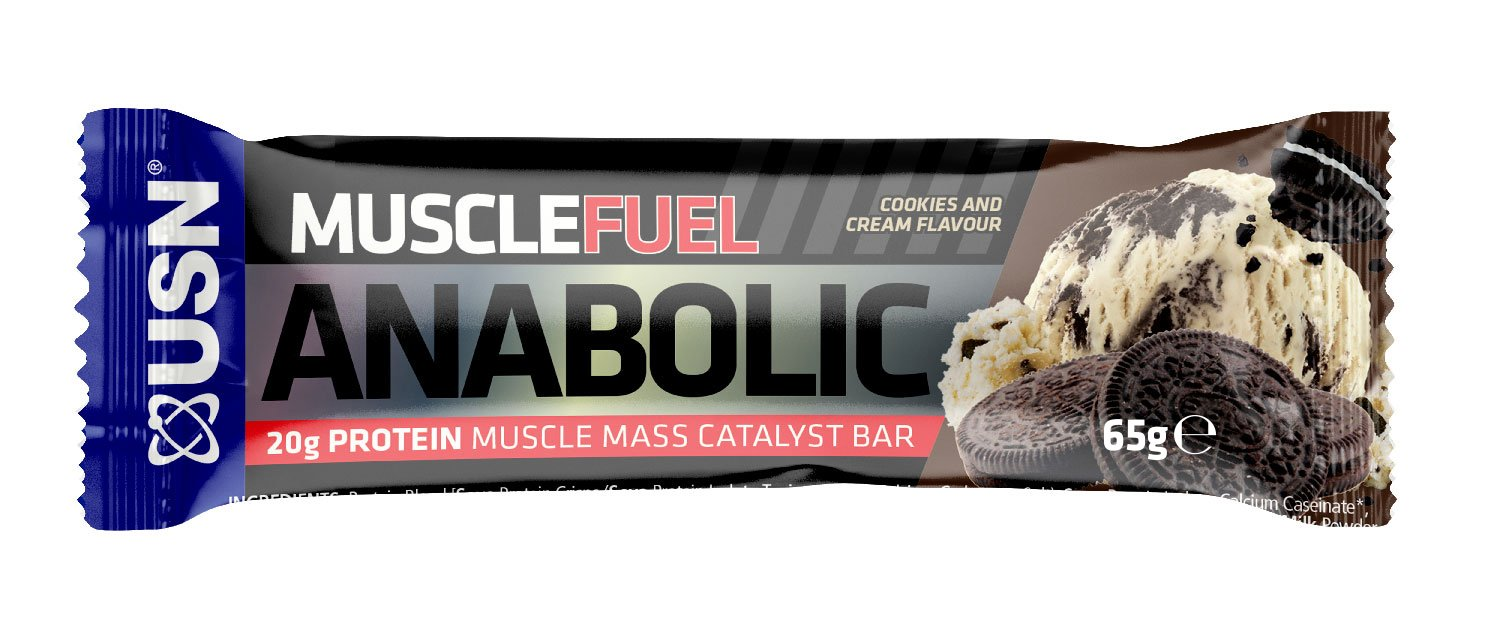 USN Muscle Fuel Anabolic Bar Cookies & Cream - 12 Barras: Amazon.es: Salud y cuidado personal