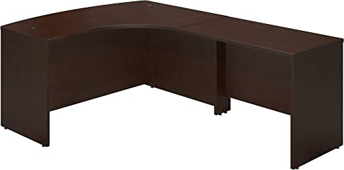Bush Business Furniture Series C Elite 60W x 43D Right Hand Bowfront Desk Shell with 42W Return in Mocha Cherry