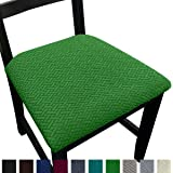 NORTHERN BROTHERS Seat Covers for Dining Room Chair Seat Covers (Olive Green, 2)