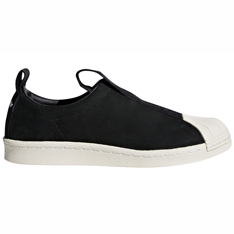 adidas Original Superstar BW Slip-on Nobuk Schwarz und Weiszlig; CQ2517 und CQ2518 Mode Hausschuhe fuuml;r Damen  38 EU|Black/Off White - Leather
